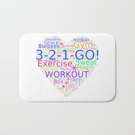 Love to Exercise & Work Out - Workout Love Bath Mat