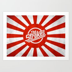 The Strokes Logo Welcome To Japan Art Print