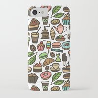 macaroon iPhone & iPod Cases featuring Coffee and pastry. by Julia Badeeva