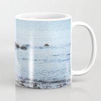 denmark Mugs featuring Denmark Beach by Kayleigh Rappaport