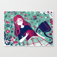 Flowe Bed Canvas Print
