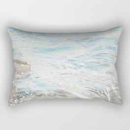 Water Swirl Rectangular Pillow