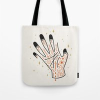 Tote Bags featuring Sleight of Hand by LordofMasks