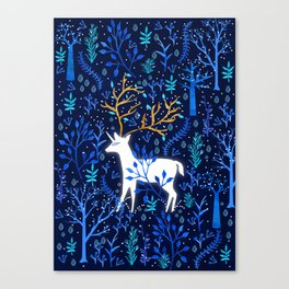 Deericorn In Blue Canvas Print