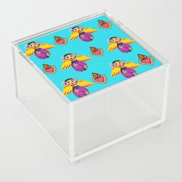 Angels and Hearts Turquoise Acrylic Box