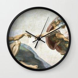 Michelangelo The Creation Of Adam Ultra HD Wall Clock