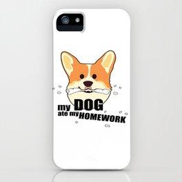 My dog ate my homework/Back to school II iPhone Case