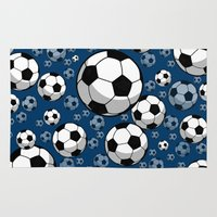 soccer Area & Throw Rugs featuring Soccer by joanfriends