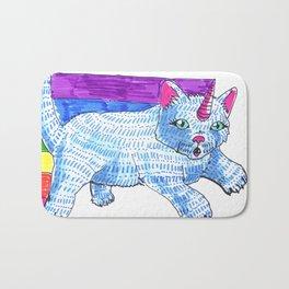 unicat catcorn kakakawaii cat unicorn Bath Mat