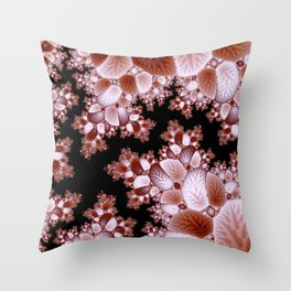 Crack in the Cosmic Fractal Throw Pillow