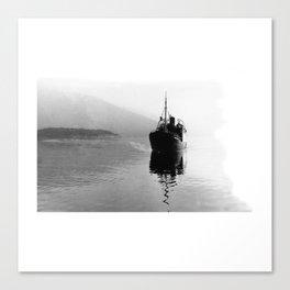 Fjord ship Canvas Print