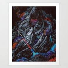 Its a majestic fall into a journey of darkness Art Print