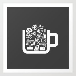 Industry a cup Art Print