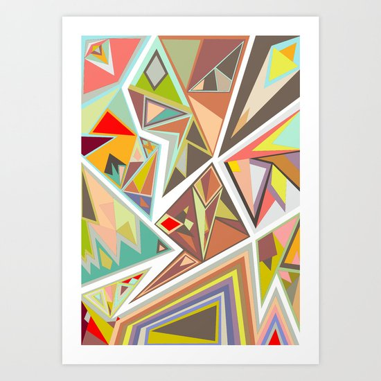 Shattered Glass Art Print