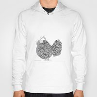 zentangle Hoodies featuring Zentangle  Illustration - Funky Chicken by Vermont Greetings