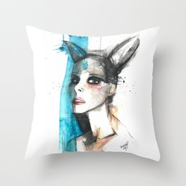 Bunny ears Throw Pillow