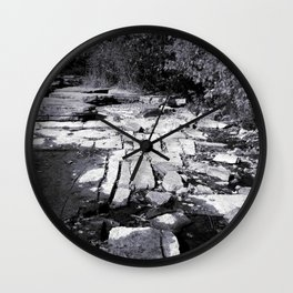 Rocky Shores - Black & White Photography Wall Clock