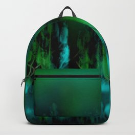 Dark Forest Green and Blue Backpack