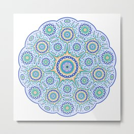 Geometric ornament Metal Print