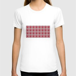 Traditional Romanian folk art knitted embroidery pattern T-shirt