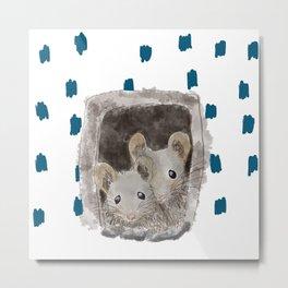 Mice Friends Metal Print