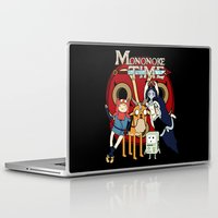 mononoke Laptop & iPad Skins featuring Mononoke Time by RebelArtCollective