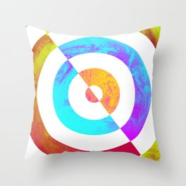 Colours Fading Throw Pillow