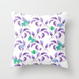 Passionately Purple Spring Time Daze - Bagaceous Throw Pillow
