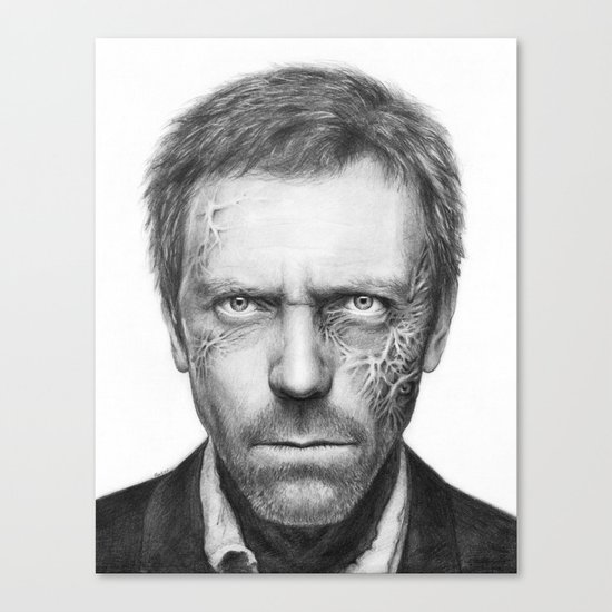 Hugh Laurie from House MD Doctor House Canvas Print