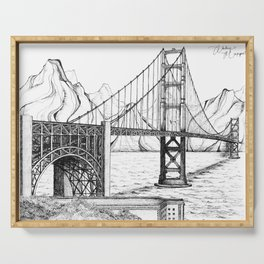 Golden Gate Bridge Serving Tray
