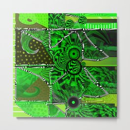 Patchwork by Florencia Mittelbach Metal Print