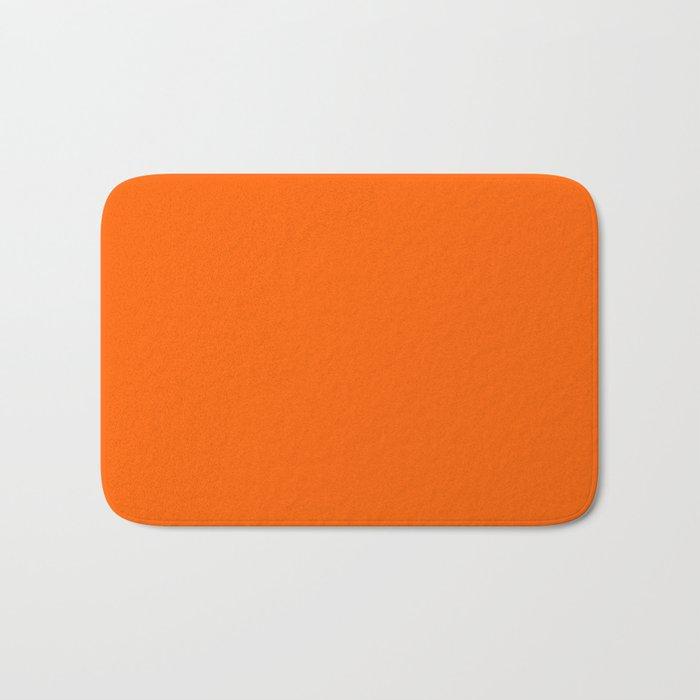 Solid Orange Badematte
