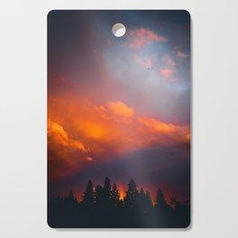 Bend Oregon: sunset & rainbow Cutting Board