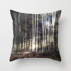 Woodland Night Throw Pillow