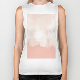Cotton candy in beige pink Biker Tank