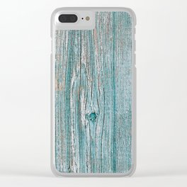 Old wood vintage background Clear iPhone Case