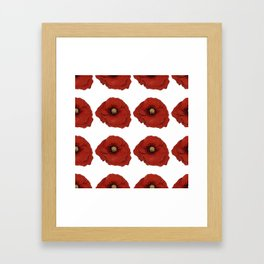 I Adore Poppies Framed Art Print