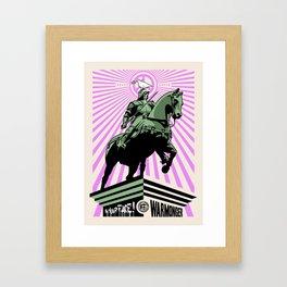 In your face warmonger version 2 Framed Art Print