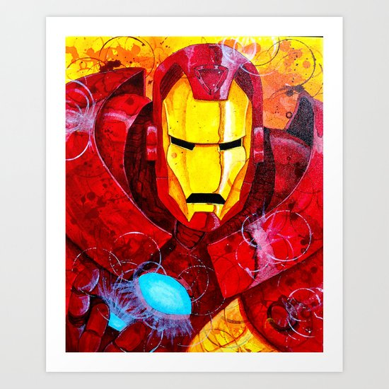 Heroes - Iron Man Art Print