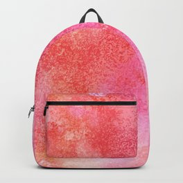 Abstract modern pink orange watercolor pattern Backpack