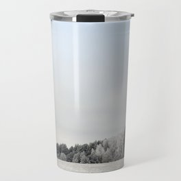 Trees in the frost Travel Mug