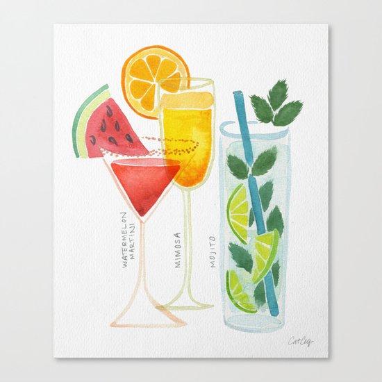 Summer Cocktail Trio Canvas Print