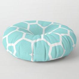 Aqua Honeycomb Floor Pillow