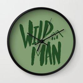 Wild Man x Green Wall Clock