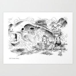 Partie de pêche / Fishing Art Print