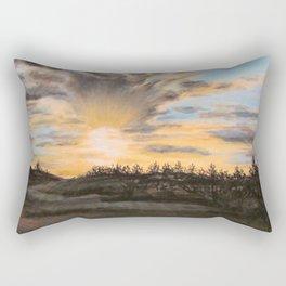 Sunset Flare Rectangular Pillow
