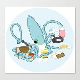 Diner Squid Canvas Print
