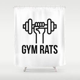 Gym Rats Shower Curtain