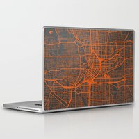 atlanta Laptop & iPad Skins featuring Atlanta map by Map Map Maps