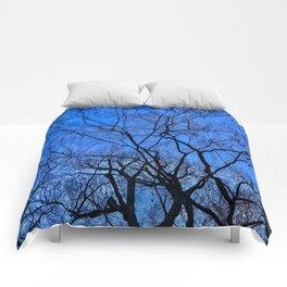 Blue Winter Comforters